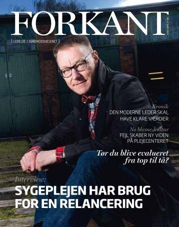 Forkant nr.2 2011 - Dansk Sygeplejeråd