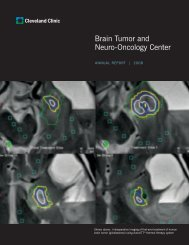 Brain Tumor and Neuro-Oncology Center - Cleveland Clinic