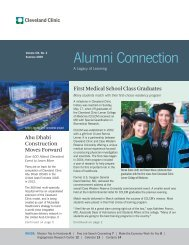 Alumni Connection - Cleveland Clinic