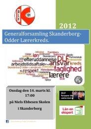 Skriftlig beretning 2012 - Skanderborg-Odder Lærerkreds