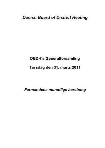 Formandens beretning for 2010 - DBDH