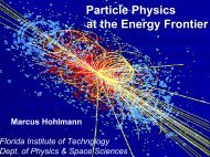 Particle Physics at the Energy Frontier - My FIT (my.fit.edu) - Florida ...