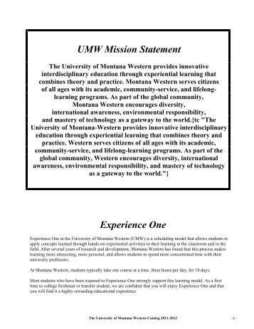 Source - The University of Montana Western