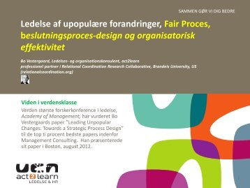 Fair proces ved Bo Vestergaard
