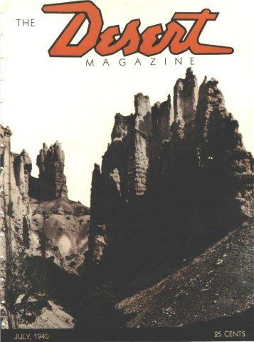the magazine y - Desert Magazine of the Southwest