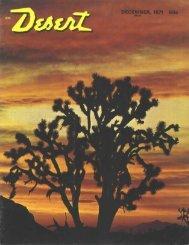 DECEMBER, 1971 50c - Desert Magazine of the Southwest
