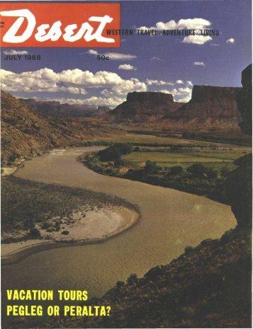 vacation tours pegleg or peralta? - Desert Magazine of the Southwest