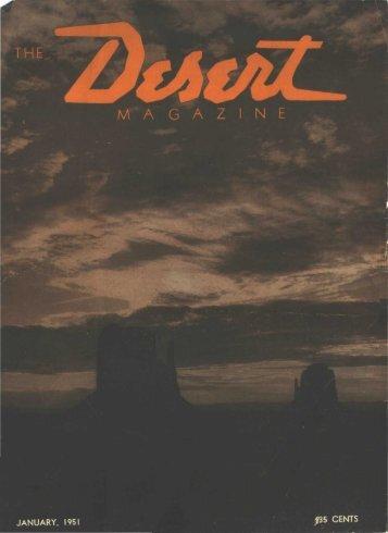 JANUARY, 1951 - Desert Magazine of the Southwest