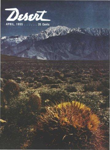 Desert Quiz - Desert Magazine of the Southwest