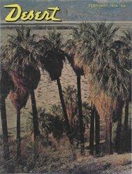 FEBRUARY, 1974 50c 7r» / ' - Desert Magazine of the Southwest