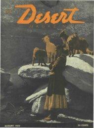 AUGUST, 1950 35 CENTS - Desert Magazine of the Southwest