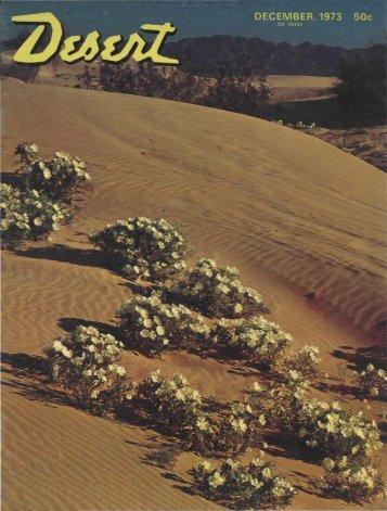 DECEMBER, 1973 50c - Desert Magazine of the Southwest