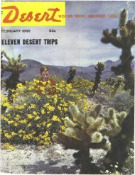 ELEVEN DESERT TRIPS . \ y ' - Desert Magazine of the Southwest
