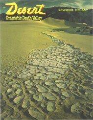 NOVEMBER, 1970 - Desert Magazine of the Southwest