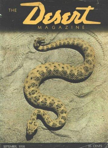 SEPTEMBER, 1938 - Desert Magazine of the Southwest