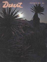 DECEMBE - Desert Magazine of the Southwest
