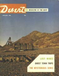 desert magazine's special attractions - Desert Magazine of the ...