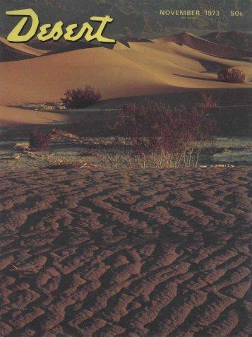 NOVEMBER, 1973 50c - Desert Magazine of the Southwest