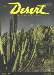 M A- G A Z I N E - Desert Magazine of the Southwest