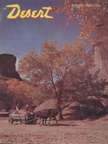 AUGUST, 1972 . 60c - Desert Magazine of the Southwest