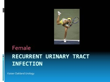 Female Recurrent Urinary Tract Infection - My Doctor Online The ...