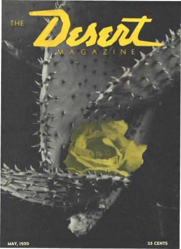 MAY, 1950 35 CENTS - Desert Magazine of the Southwest