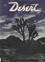 M A G A Z I IT E - Desert Magazine of the Southwest