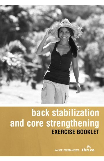 Back Stabilization and Core Strengthening Exercise Booklet