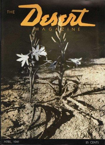 THE N E - Desert Magazine of the Southwest