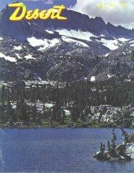Lone Tine, California - Desert Magazine of the Southwest