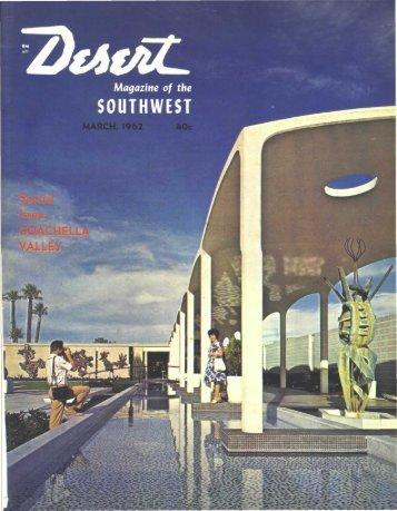 """•""""1 \nllllillH11111 - Desert Magazine of the Southwest"""
