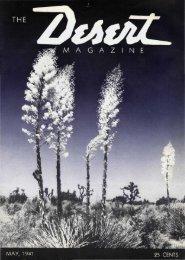 M A G A Z •: - Desert Magazine of the Southwest