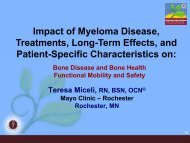 Impact of Myeloma Disease, Treatments Long Term Effects and ...