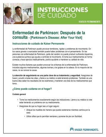 Parkinson's Disease: After Your Visit - Kaiser Permanente