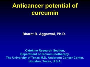 Anticancer potential of curcumin - Fabrice Leu