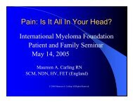 Pain: Is It All In Your Head? - North Texas Myeloma Support Group ...