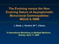 evolving mgus? - International Myeloma Foundation