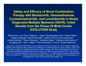 Safety and Efficacy of Novel Combination Safety and Efficacy of ...