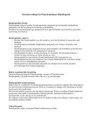 Styrelsesvedtægt for Fanø Kommunes Handicapråd
