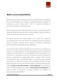 Bedre universitetsledelse - Danske Studerendes Fællesråd