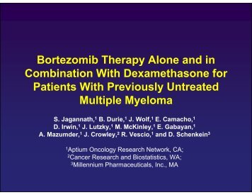 Bortezomib Therapy Alone and in Combination With ...