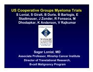 US Cooperative Groups Myeloma Trials - International Myeloma ...