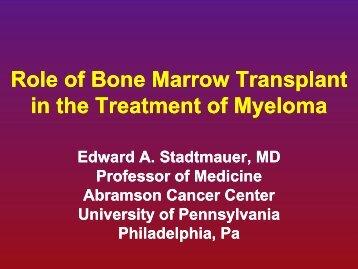 Role of Bone Marrow Transplant Role of Bone Marrow Transplant in ...