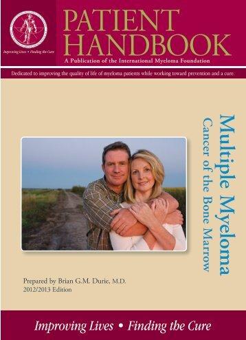 PATIENT HANDBOOK - International Myeloma Foundation
