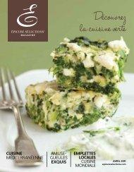 Découvrez la cuisine verte - My Epicure