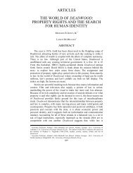 property rights and the search for human identity - USC Gould ...