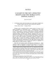 notes caught in the net: athletes' rights and - USC Gould School of ...