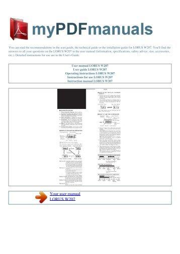 User Manual Tag Heuer Monaco Sixty Nine My Pdf