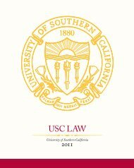 USC LAW - USC Gould School of Law - University of Southern ...
