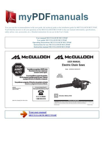 Mcculloch Eager Beaver 2 0 Manual pdf